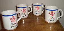 Calgary 1988 Winter Olympics – Maxwell House U.S. Team Sponsor Mugs (Set of 4)