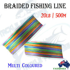 500m 20LB Braid Fishing Line Spectra Fluorocarbon Leader Lures Jigging KINGS