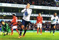 Signed Roberto Soldado Tottenham Hotspur Autograph Photo Valencia Villareal