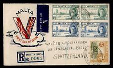DR WHO 1946 MALTA FDC  C228094