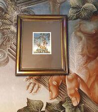 Die Säulen von Gades. DIETER SCHUCHARDT 1979. Original Gouache. TOP Surrealist