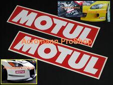 "2x 6"" 15.2cm MOTUL oil Decal Sticker brake kawasaki motogp 350Z gtr JGTC brz frs"