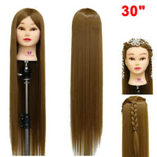 "30"" Long Hairdressing Hair Training Head Model Mannequin Doll With Free Clamp"