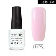 BELLE FILLE 8ml Nail Art Gel polish Soak-off UV Led Varnish Manicure DIY #1408