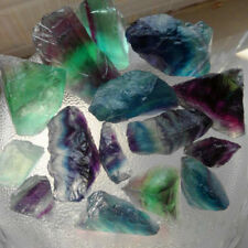 Raw Fluorite Purple Green Quartz Natural Crystal Wand Stone Specimen Minerals