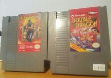 Double Dragon (Tradewest) & Ninja Gaiden (Tecmo) - CLASSIC NES - VERY NICE SHAPE