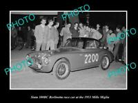 OLD 6 X 4 HISTORIC PHOTO OF SIATA 300BC BERLINETTA RACE CAR 1953 MILLE MIGLIA