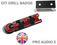 RED GTI Grill Badge - VW Golf Polo Bora MK2 MK3 MK5 MK6 16V Car Van -QUALITY UK