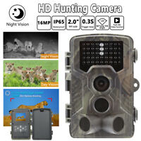 Infrared Night Vision HD 1080P IR 16MP 120° Trail Security Camera Hunting Cam