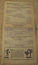 "1922-23 Advertising Brochure/Program~""Philhar monic Auditorium""~Los Angeles Opera"