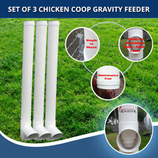 Set of 3 Automatic Gravity Chicken Feeder – Feed 7 Chickens x once a week refill