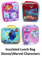 Disney Kids Childrens Boys Girls Insulated Lunch Pack Box Bag School Food Picnic