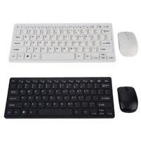 2.4G Mini Wireless Keyboard Sets Optical Mouse Combo Black Desktop Computer FTB