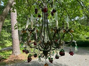 Vintage Murano Glass Chandelier with Fruit