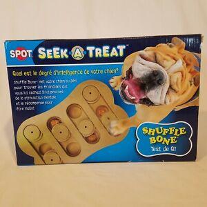 Ethical Pet Interactive Seek-A-Treat Shuffle Bone Toy IQ Puzzle Dog Training Toy