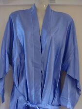 12/14 light purple satin ladies knee length wrap/robe bnwt self belt