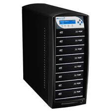 SharkBlu 1-8 Blu-Ray DVD CD Duplicator 500GB HDD USB 3.0 (LG Burner) BD-LG-8-BK
