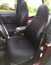 Jeep Wrangler 1999 2000 Custom Neoprene Front & Rear Car Seat Cover BLACK tj127b