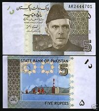 PAKISTAN 5 RUPEES P53 2008-2009 x 100 Pcs Lot FULL BUNDLE GWADAR PORT UNC NOTE