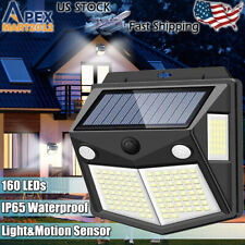 160 LED Solar Power PIR Motion Sensor Wall Light Waterproof Garden Security Lamp