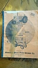 Minneapolis Moline Farm Tractor Service Manual Model Z Original Used