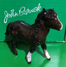 BESWICK HORSE FOAL SHETLAND MODEL No. 1034 BROWN GLOSS FINISH PERFECT BOXED