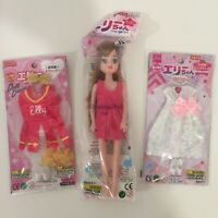 Daiso Japan - Bride Dress Cheer Outfit With Shoes and Brunette Doll - Elly Chan
