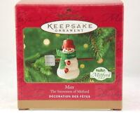 2000 Hallmark Keepsake Max the Snowmen of Mitford Series Preowned Original Box