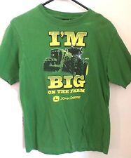 John Deere Tractor I'm BIG on the FARM Green Shirt Size 14/16 Boys