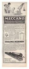 PUBLICITE JOUET MECCANO TRAIN HORNBY   1926