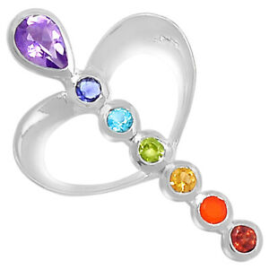 Healing Chakra 925 Sterling Silver Pendant Jewelry SSS CP227
