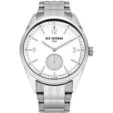 Ben Sherman WB052SM Men's Quartz Watch Stainless Steel White Dial 42MM