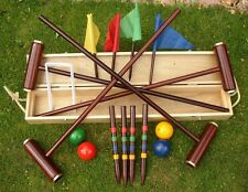 Royal york boxed qualité adultes croquet set avec en bois de bouleau maillets