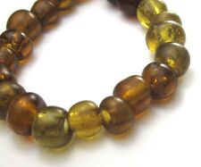 "21 RARE AMAZING OLD TRANSLUCENT ROOT BEER ""PADRE ANTIQUE ""AFRICAN TRADE"" BEADS*"