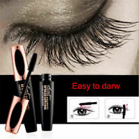 NEW 4D Silk Fiber Eyelash Mascara Extension Makeup Waterproof Kit Big Eyes