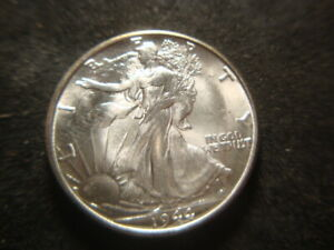1944-S BU GEM Superb BU Walking Liberty Half Dollar Nice GSX