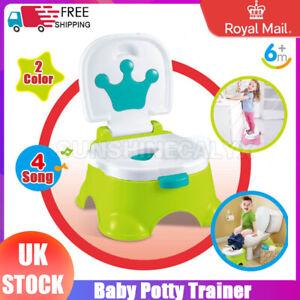 Musical 3 In 1 Baby Toddler Kids Training Potty Toilet Music Training Seat UK
