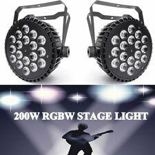 2Pcs 18 Led Par Light Rgbw Stage Lighting Beam Rainbow Effect Dmx Disco Party Dj