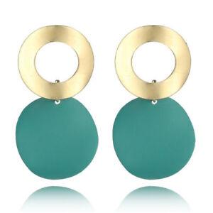 Boho Vintage Geometric Statement 2021 Metal Earrings Drop Fashion Jewelry Trend