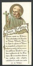 Estampa antigua de San Bruno andachtsbild santino holy card santini
