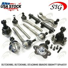 11pc Ball Joint Tie Rods Sway Bar Link Pitman Suspension For 4WD Chevrolet Tahoe