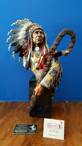 RARE NIB  CHRIS PARDELL LEGENDS CHIEF RED CLOUD MIXED MEDIA SCULPTURE VICTORIOUS