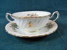 Minton Marlow Gold H5017 Cream Soup Bowl and Saucer Set
