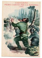 RSI 1944 A.N. VOLONTARI DI GUERRA COZZARINI PRIMO CADUTO FALCIANO MONDRAGONE