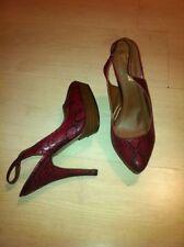 Animal Print Slingbacks Snakeskin Heels for Women
