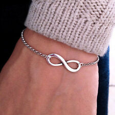 Fashion Jewelry Silver Forever Bracelet Chain Charm Simple Inspired Women gift