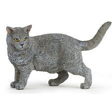 PAPO Chartreux Cat Animal Figure NEW