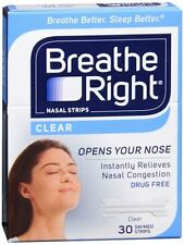 Breathe Right Nasal Strips Clear Small/Medium 30 Each (Pack of 4)