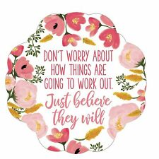 Don't Worry About How Things Are Going To Work Out Pink 3 x 5 Vinyl Sticker
