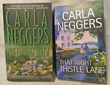 2 PB BOOK LOT ROMANCE:CARLA NEGGERS-THE CARRIAGE HOUSE/THAT NIGHT ON THISTLE LAN